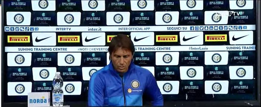 Inter - Lazio, conferenza Antonio Conte (YouTube FC Inter)