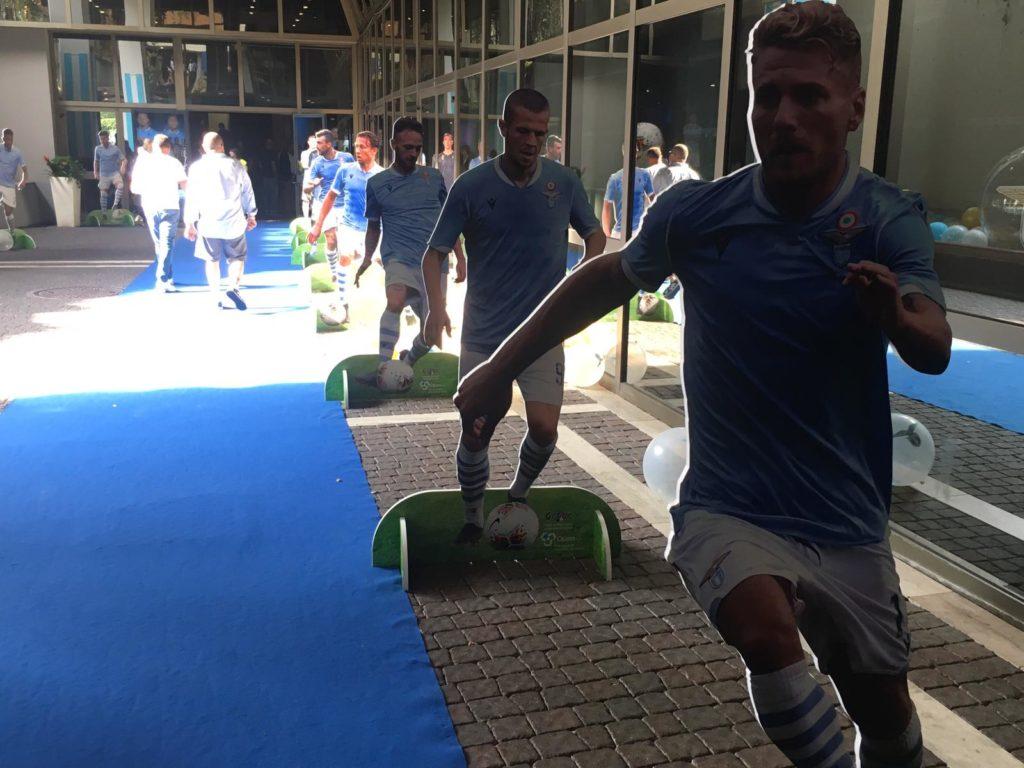 Lazio - Roma, sagome calciatori