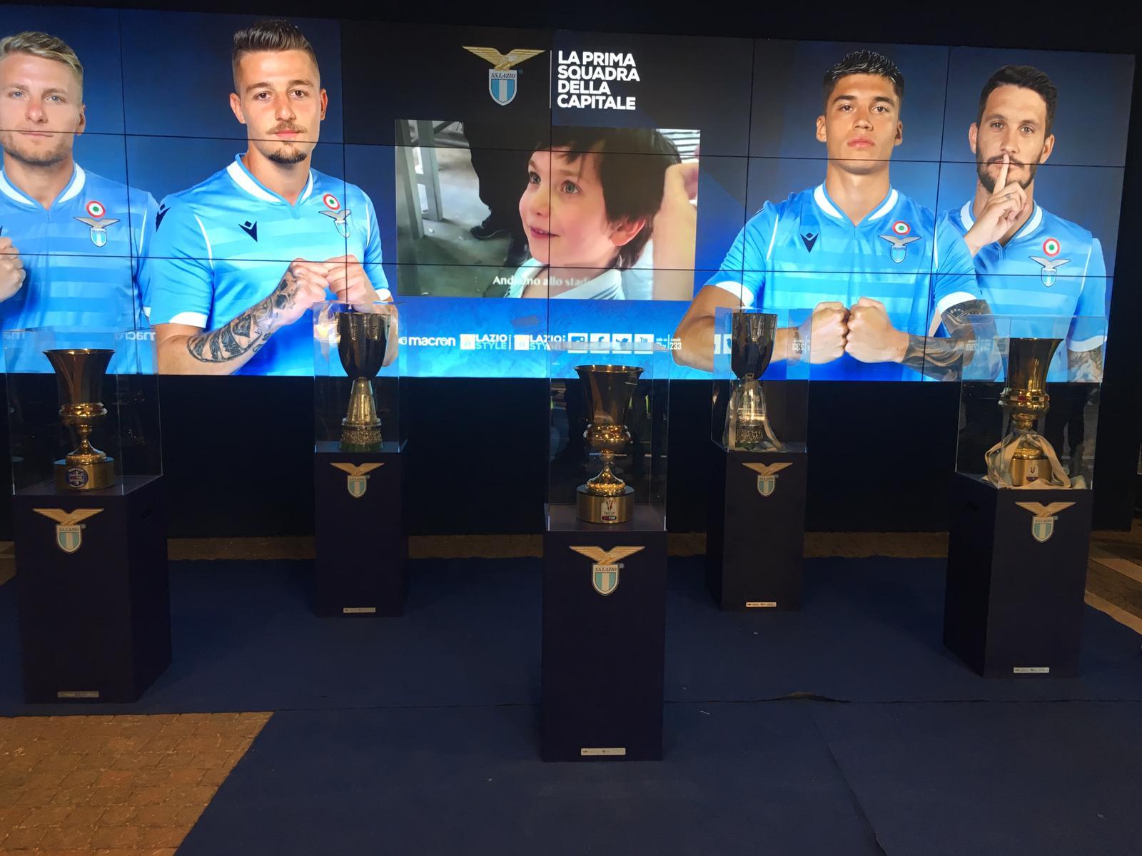 Lazio - Roma, trofei era Lotito