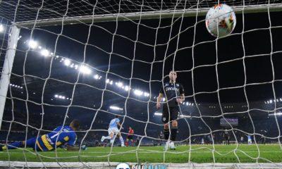 Lazio - Parma, gol pallone rete