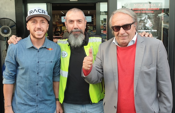 Lazio Motociclismo, il presidente Fioroni con Tony Cairoli e Carlo Pernat