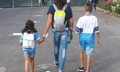 Lazio - Atalanta, i piccoli tifosi allo stadio