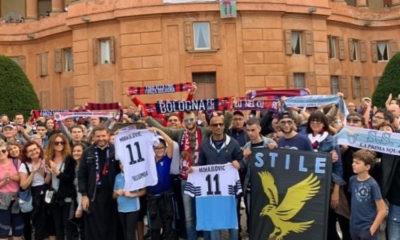 Bologna - Lazio, pellegrinaggio tifosi Miihajlovic (Instagram Radiosei)