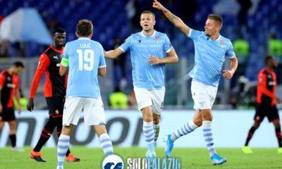 Lazio - Rennes, Milinkovic, Lulic e Vavro
