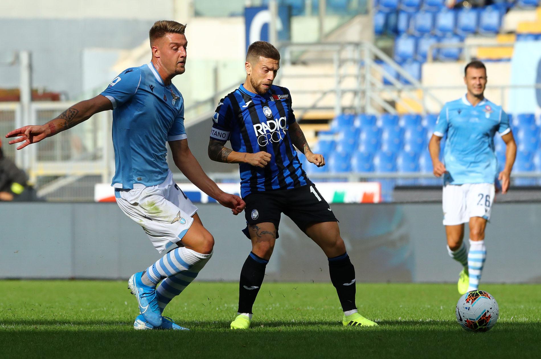 Lazio - Atalanta, Sergej Milinkovic e il Papu Gomez