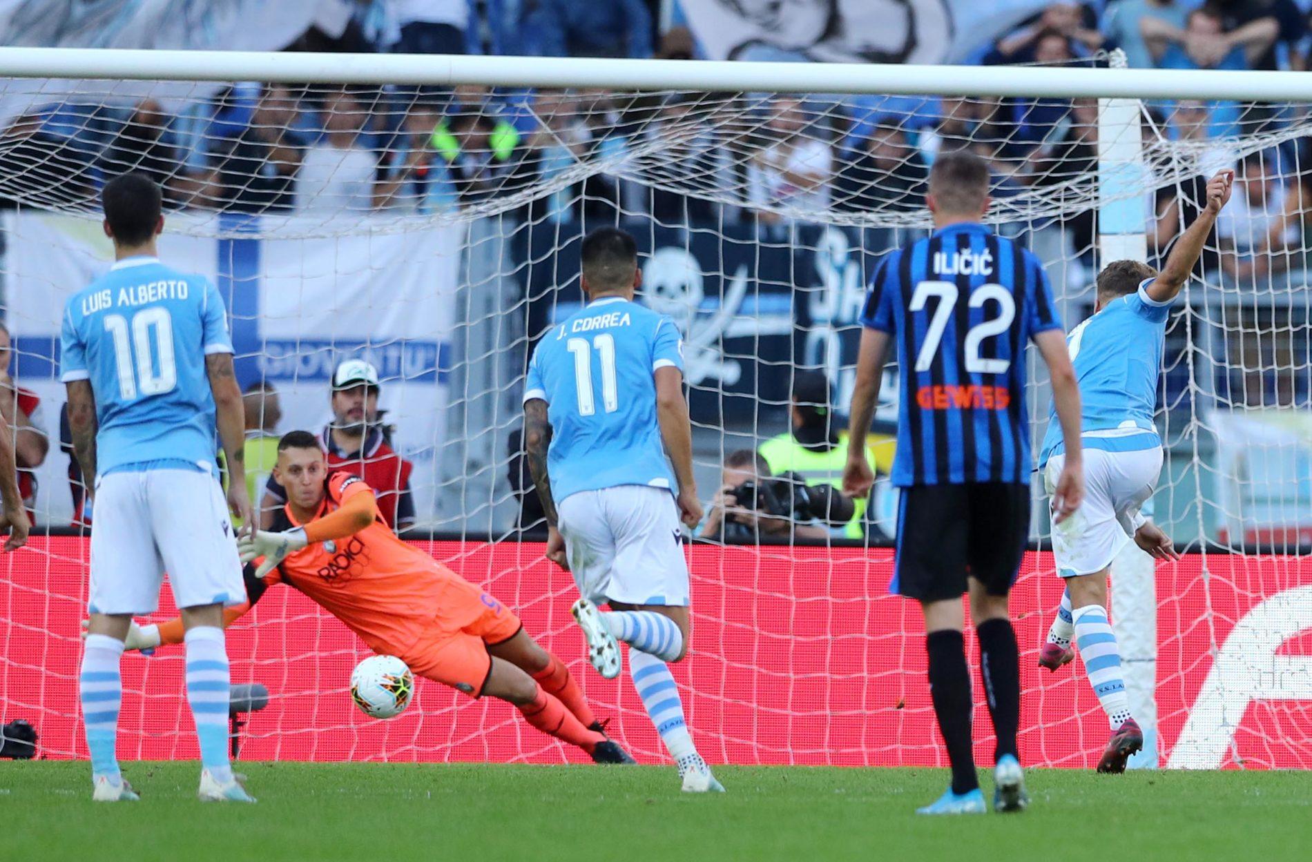 Lazio - Atalanta, secondo rigore Ciro Immobile