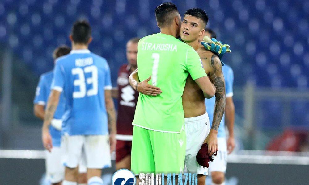Lazio - Torino, Thomas Strakosha e Joaquin Correa
