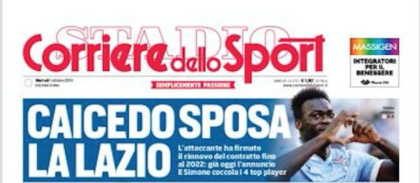 Rassegna stampa, Corriere dello Sport-Roma 1 ottobre 2019