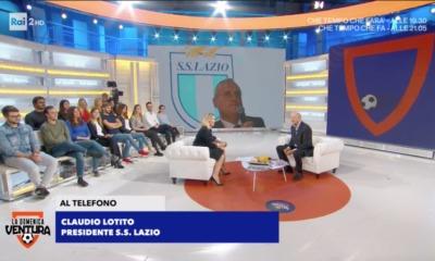 """Lazio, Claudio Lotito a """"La Domenica Ventura"""""""