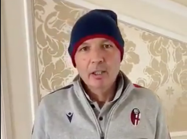 Mihajlovic, video saluto ai tifosi del Bologna per i 110 anni del club
