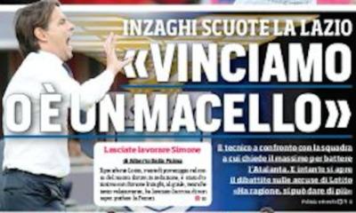 Lazio, prima pagina Corriere dello Sport-edizione romana 17 ottobre 2019