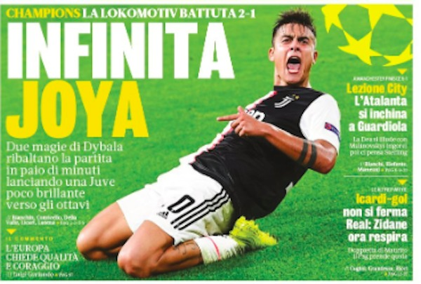 Rassegna stampa, Gazzetta dello Sport 23 ottobre 2019 - 2
