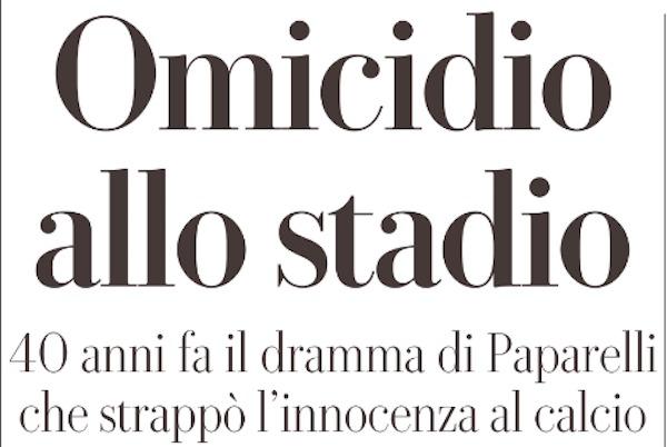 Paparelli, articolo Repubblica 40° anniversario