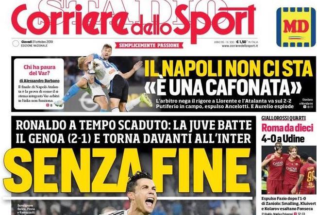 Le prime pagine dei quotidiani sportivi odierni (FOTO)