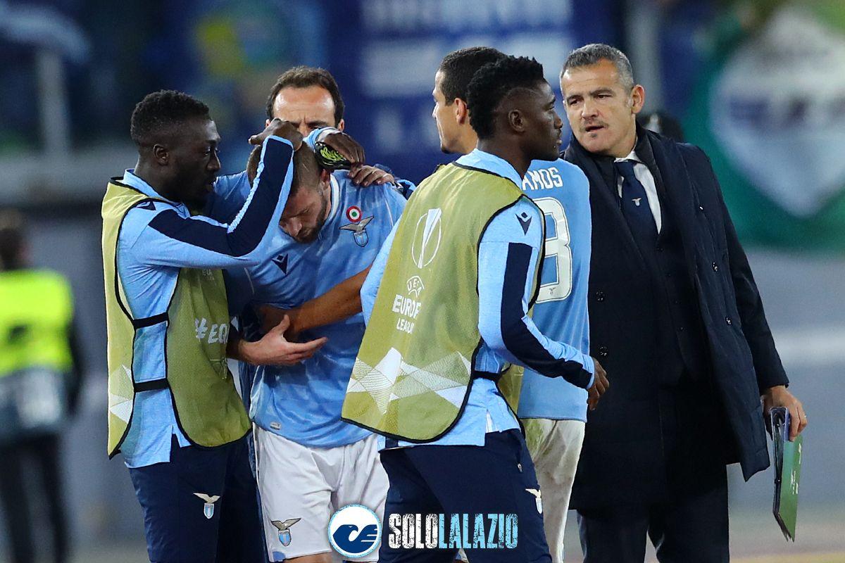 Lazio - Celtic, Valon Berisha consolato dai compagni