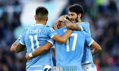 Lazio - Lecce, Joaquin Correa, Ciro Immobile e Luis Alberto