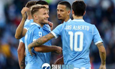 Lazio - Lecce, esultanza gol