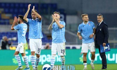 Lazio - Lecce, esultanza Lazio