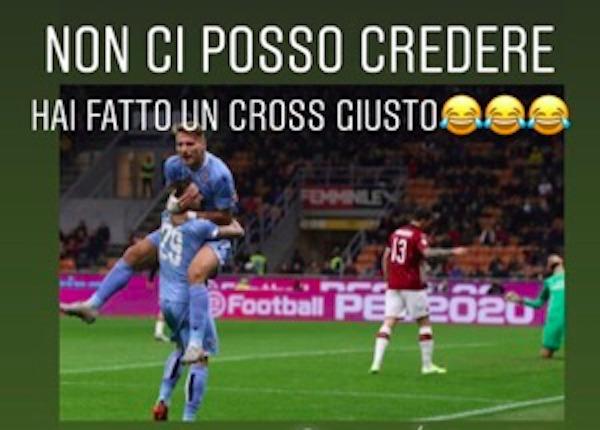 Milan - Lazio, Immobile scherza con Lazzari