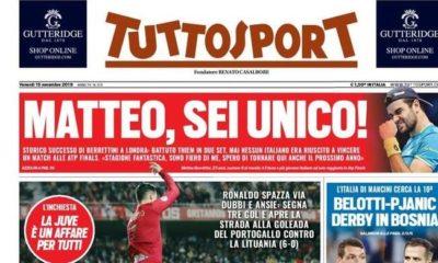 Le prime pagine dei pinricipali quotidiani sportivi nazioali (FOTO)