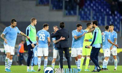 Lazio - Udinese, esultanza squadra