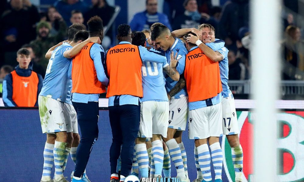 Lazio - Juventus, esultanza