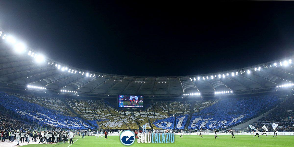 Lazio - Juventus, scenografia Curva Nord