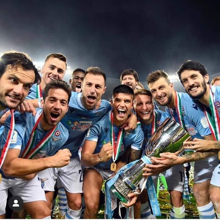 Momento social amarcord per la Lazio e per... Romulo!
