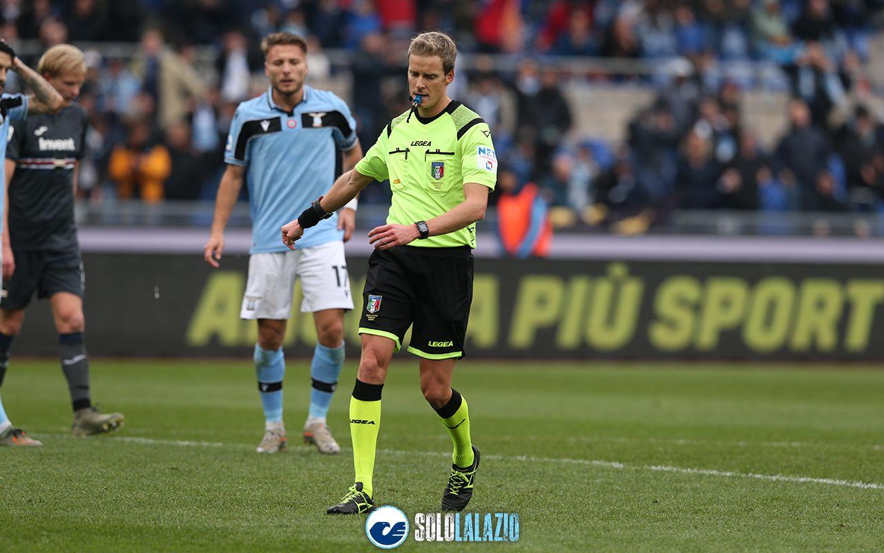 Lazio - Sampdoria, arbitro Daniele Chiffi