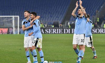 Lazio - Napoli, esultanza squadra