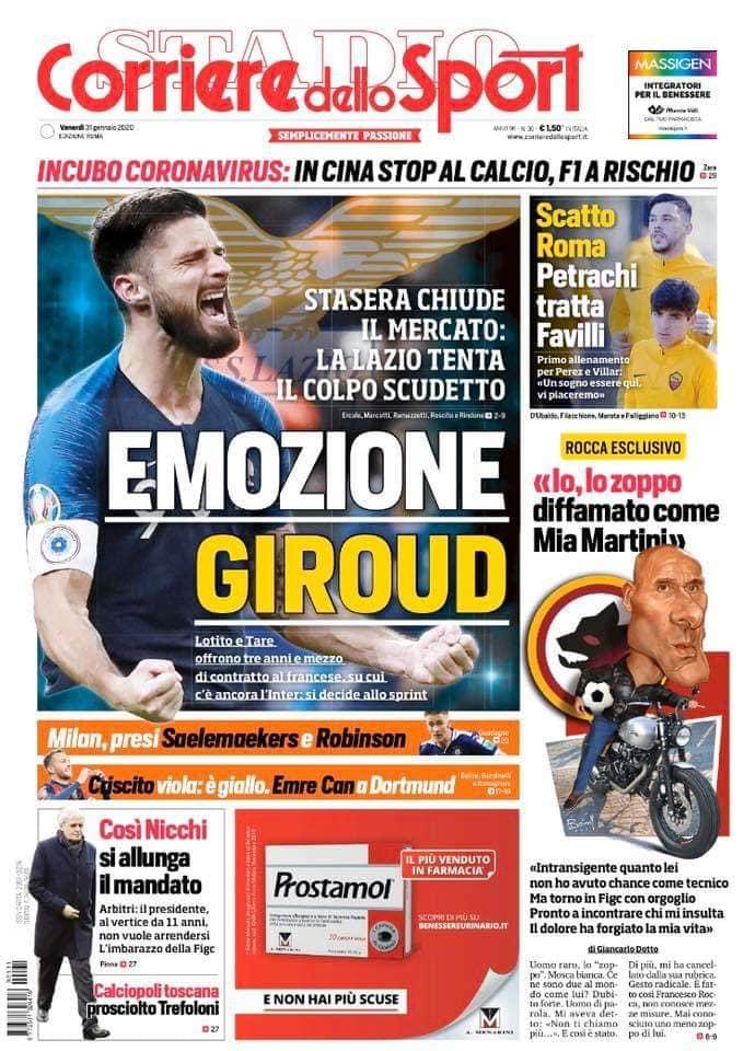 """CorSport Roma: """"La Lazio tenta il colpo da scudetto"""""""
