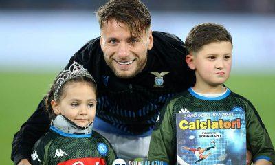 Lazio - Napoli, Ciro Immobile con la piccola Noemi Staiano