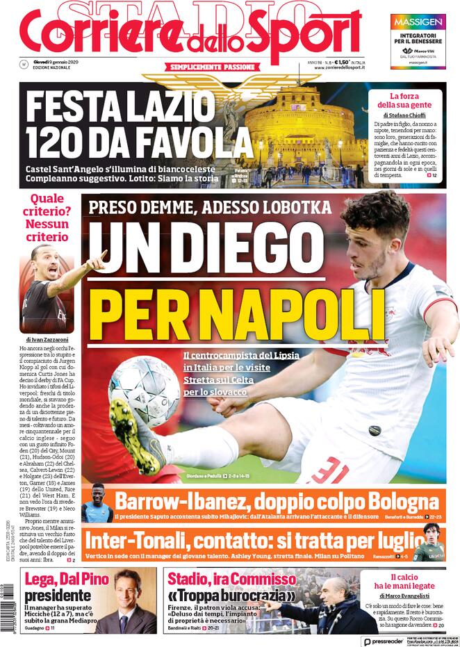 Le prime pagine dei quotidiani sportivi nazionali (FOTO)