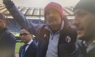 Lazio - Bologna, Sinisa Mihajlovic sotto la Curva Nord