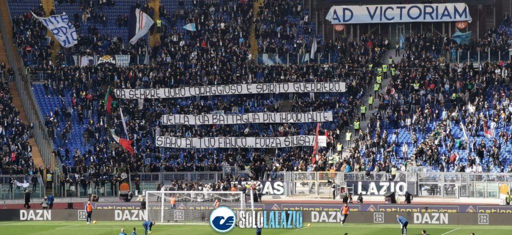 Lazio - Bologna, striscione Curva Nord per Mihajlovic