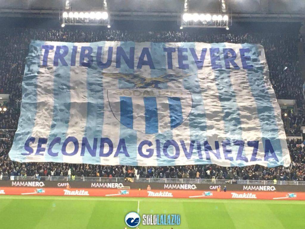 Lazio - Inter, scenografia Tribuna Tevere