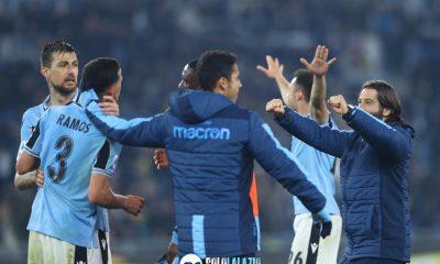 Lazio - Inter, esultanza squadra