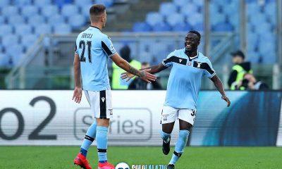 Lazio - Spal, Sergej Milinkovic e Bobby Adekanye