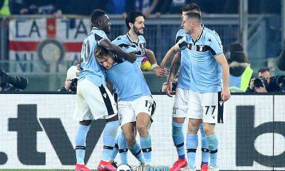 Lazio - Inter, esultanza gol Immobile