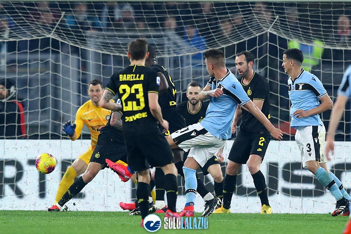 Lazio - Inter, gol Sergej Milinkovic