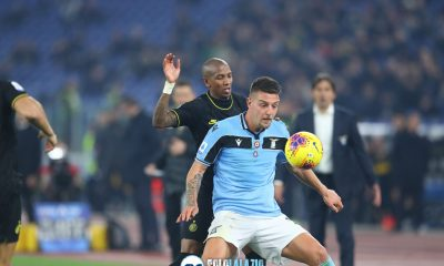 Lazio - Inter, Ashley Young e Sergej Milinkovic