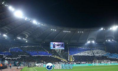Lazio - Inter, scenografia Curva Nord