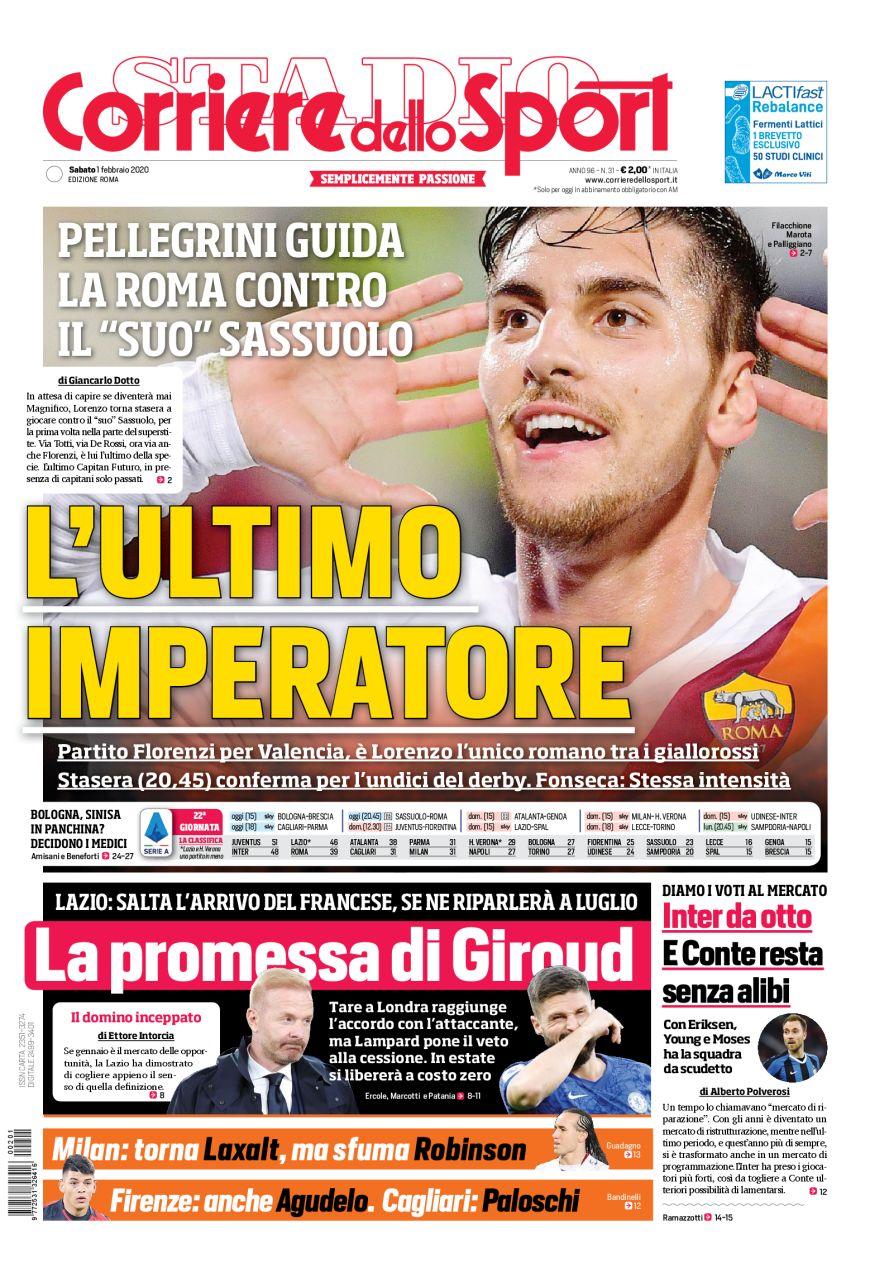Corriere Dello Sport Di Roma La Promessa Di Giroud Solo La Lazio