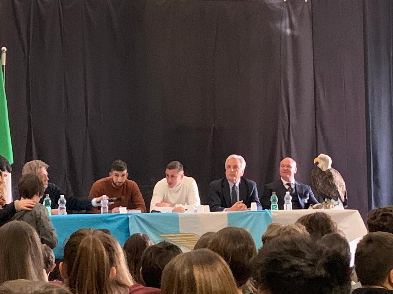 Lazio nelle scuole, Marusic e Cataldi all'Ist. Comprensivo V. Volsinio