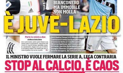 Corriere dello Sport (ed. Roma): per lo scudetto sarà lotta tra Juve e Lazio