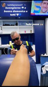 Luiz Felipe cure caviglia
